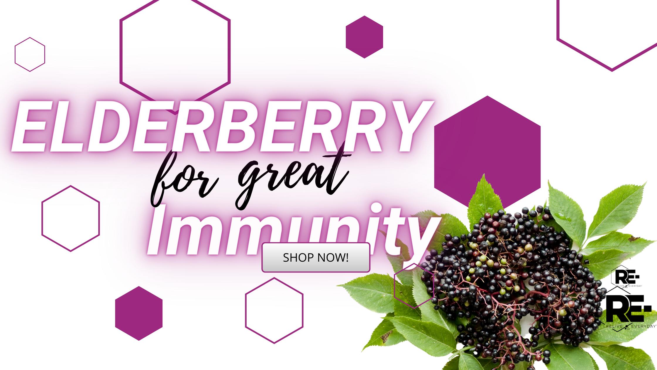 ELDERBERRY FOR GREAT IMMUNITY Banner