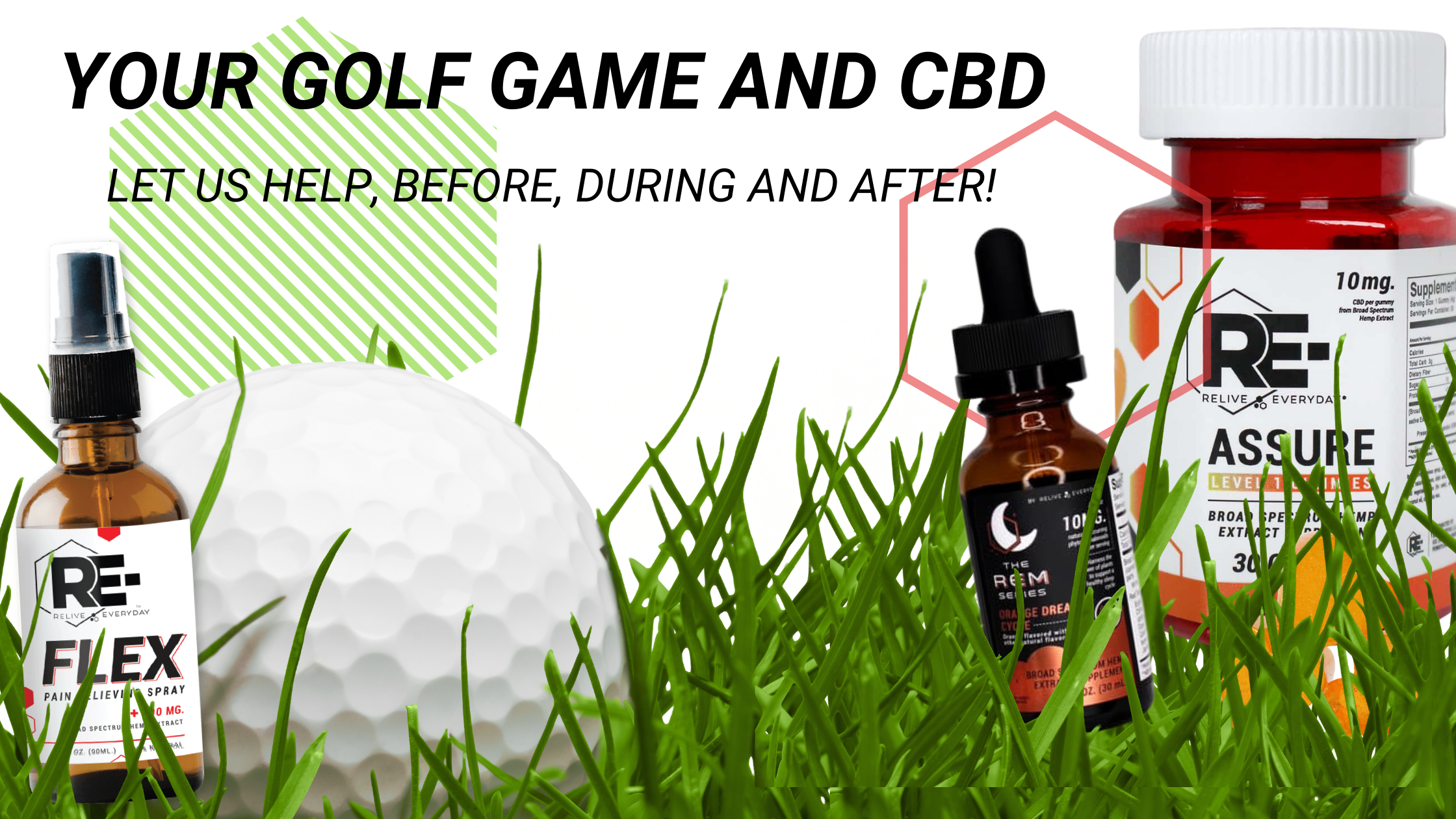 HOW TO HELP YOUR GOLF GAME CBD Blog Banner