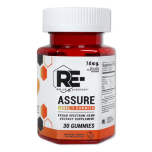 relive everyday re assure cbd vegan gummies 10mg natural orange